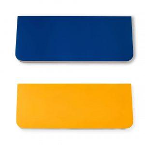 Полочка Sedoviko СSS1, разноцветные, двухсторонние: синий + желтый, береза, итальянский лак.