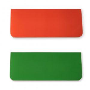 Полочка Sedoviko СSS1, разноцветные, двухсторонние: морковный + зеленый, береза, итальянский лак.