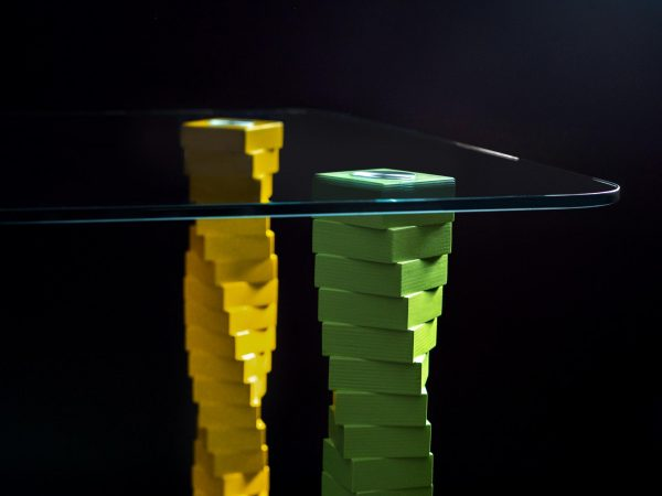 Стол Sedoviko TDS5, разноцветный, 1400x800x760, береза, закаленное стекло, итальянский лак. https://sedoviko.ru/table5/